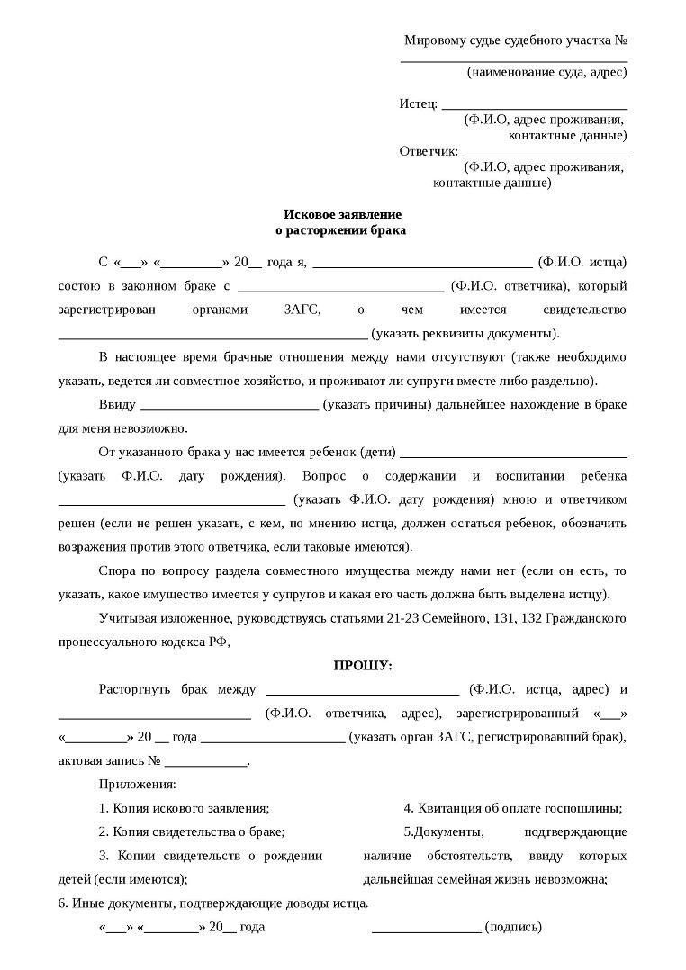 Образцы искового заявления в суд. Бесплатно скачать бланки исковых заявлений
